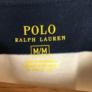 Polo by Ralph Lauren Dresses - Polo Ralph Lauren Navy Block Striped T Shirt Dress